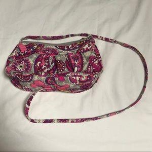 Vera Bradley Grey and Pink Crossbody Bag